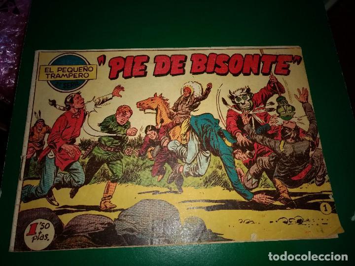EL PEQUEÑO TRAMPERO, 2º SERIE Nº 1, PIE DE BISONTE, AÑO 1958 (Tebeos y Comics - Tebeos Otras Editoriales Clásicas)