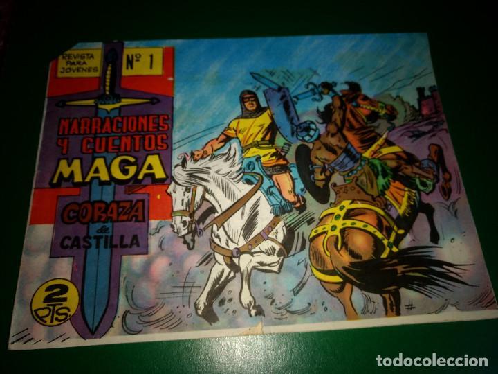 NARRACIONES Y CUENTOS MAGA CORAZA DE CASTILLA Nº1 ORIGINAL BUEN ESTADO (Tebeos y Comics - Tebeos Otras Editoriales Clásicas)