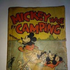 Tebeos: MICKEY HACE CAMPING. WALT DISNEY. PRIMERA EDICION 1934. EDITORIAL MOLINO. Lote 198568948