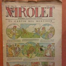 Tebeos: VIROLET. ANY III NÚM 154. BARCELONA DÉCEMBRE 1924. SUPLEMENT IL·LUSTRAT RAT D'EN PATUFET. Lote 199004703