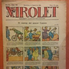 Tebeos: VIROLET. ANY III NÚM 135. BARCELONA AGOST 1924. SUPLEMENT IL·LUSTRAT RAT D'EN PATUFET. Lote 199005326