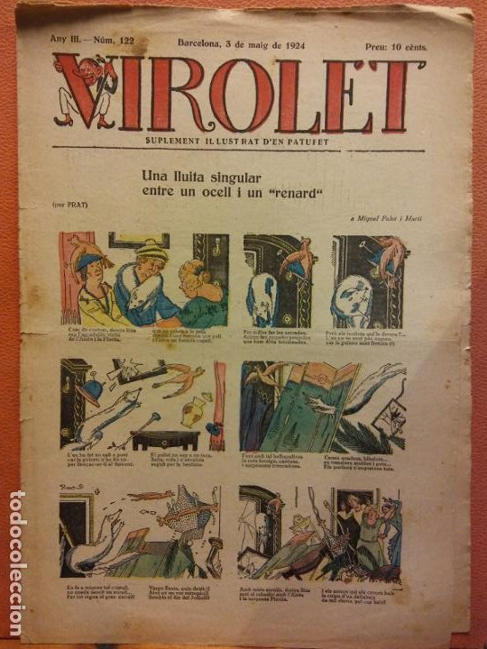 VIROLET. ANY III NÚM 122. BARCELONA MAIG 1924. SUPLEMENT IL·LUSTRAT RAT D'EN PATUFET (Tebeos y Comics - Tebeos Clásicos (Hasta 1.939))