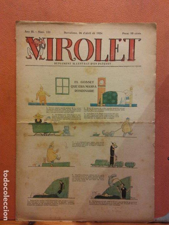 VIROLET. ANY III NÚM 121. BARCELONA ABRIL 1924. SUPLEMENT IL·LUSTRAT RAT D'EN PATUFET (Tebeos y Comics - Tebeos Clásicos (Hasta 1.939))