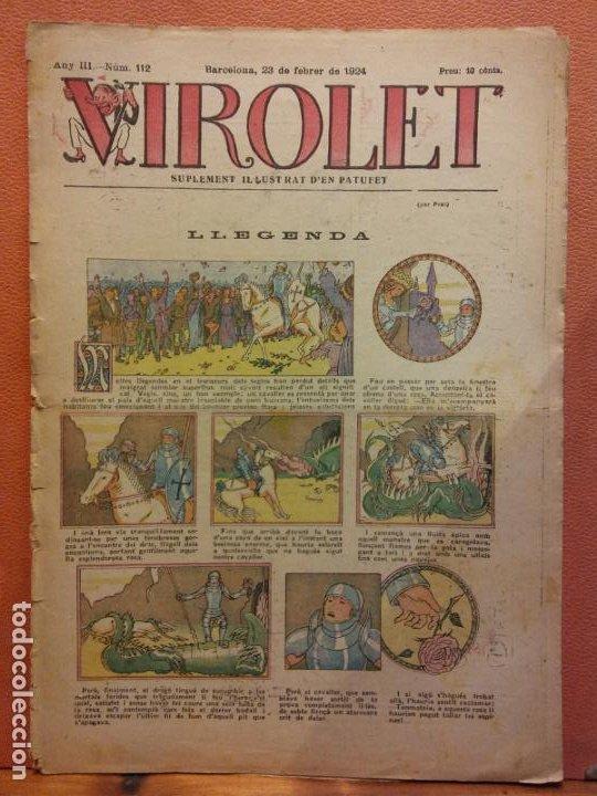 VIROLET. ANY III NÚM 112. BARCELONA FEBRER 1924. SUPLEMENT IL·LUSTRAT RAT D'EN PATUFET (Tebeos y Comics - Tebeos Clásicos (Hasta 1.939))