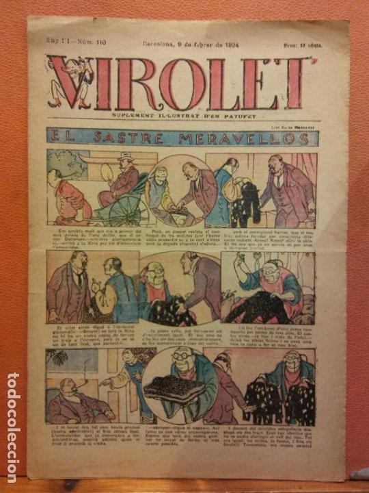 VIROLET. ANY III NÚM 110. BARCELONA FEBRER 1924. SUPLEMENT IL·LUSTRAT RAT D'EN PATUFET (Tebeos y Comics - Tebeos Clásicos (Hasta 1.939))