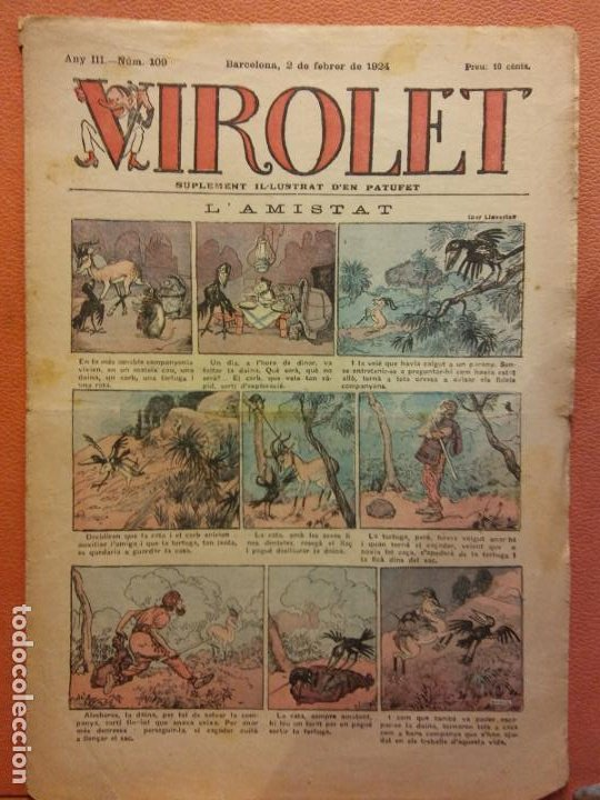 VIROLET. ANY III NÚM 109. BARCELONA FEBRER 1924. SUPLEMENT IL·LUSTRAT RAT D'EN PATUFET (Tebeos y Comics - Tebeos Clásicos (Hasta 1.939))