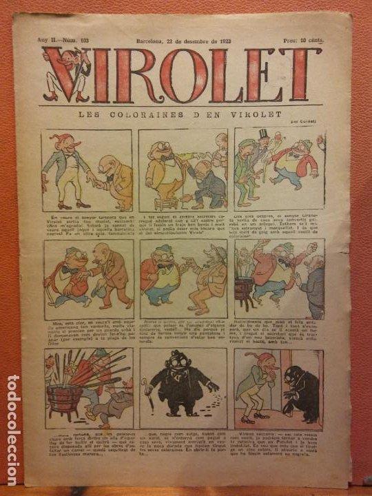 VIROLET. ANY II NÚM 103. BARCELONA DESEMBRE 1923. SUPLEMENT IL·LUSTRAT RAT D'EN PATUFET (Tebeos y Comics - Tebeos Clásicos (Hasta 1.939))