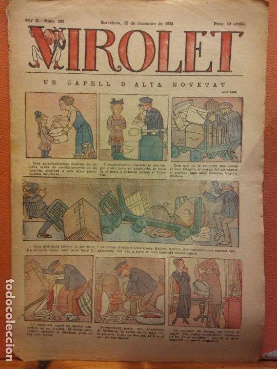 VIROLET. ANY II NÚM 102. BARCELONA DESEMBRE 1923. SUPLEMENT IL·LUSTRAT RAT D'EN PATUFET (Tebeos y Comics - Tebeos Clásicos (Hasta 1.939))