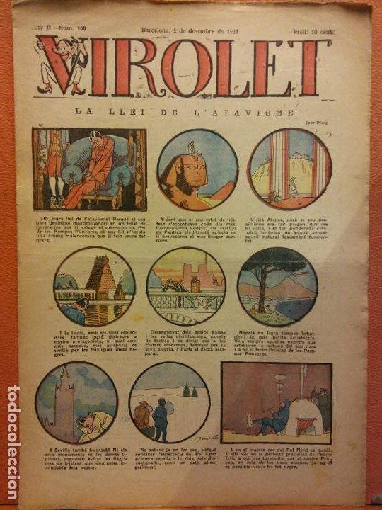VIROLET. ANY II NÚM 100. BARCELONA DESEMBRE 1923. SUPLEMENT IL·LUSTRAT RAT D'EN PATUFET (Tebeos y Comics - Tebeos Clásicos (Hasta 1.939))