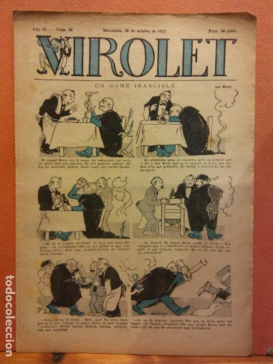 VIROLET. ANY II NÚM 94. BARCELONA OCTUBRE 1923. SUPLEMENT IL·LUSTRAT RAT D'EN PATUFET (Tebeos y Comics - Tebeos Clásicos (Hasta 1.939))