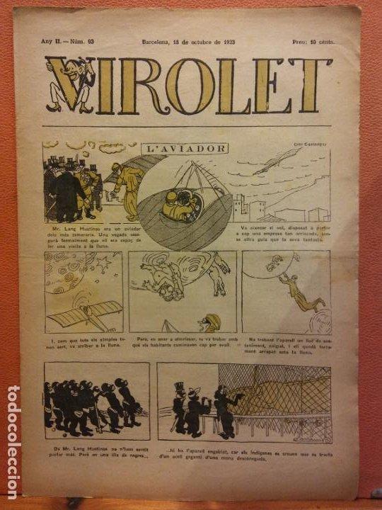 VIROLET. ANY II NÚM 93. BARCELONA OCTUBRE 1923. SUPLEMENT IL·LUSTRAT RAT D'EN PATUFET (Tebeos y Comics - Tebeos Clásicos (Hasta 1.939))