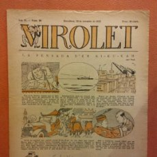 Livros de Banda Desenhada: VIROLET. ANY II NÚM 90. BARCELONA SETEMBRE 1923. SUPLEMENT IL·LUSTRAT RAT D'EN PATUFET. Lote 199033102