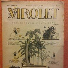 Livros de Banda Desenhada: VIROLET. ANY II NÚM 88. BARCELONA SETEMBRE 1923. SUPLEMENT IL·LUSTRAT RAT D'EN PATUFET. Lote 199033168