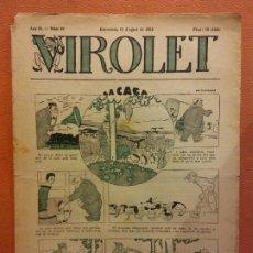 Livros de Banda Desenhada: VIROLET. ANY II NÚM 84. BARCELONA AGOST 1923. SUPLEMENT IL·LUSTRAT RAT D'EN PATUFET. Lote 199033317