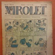 Livros de Banda Desenhada: VIROLET. ANY II NÚM 83. BARCELONA AGOST 1923. SUPLEMENT IL·LUSTRAT RAT D'EN PATUFET. Lote 199033357