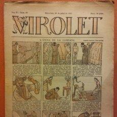 Livros de Banda Desenhada: VIROLET. ANY II NÚM 82. BARCELONA JULIOL 1923. SUPLEMENT IL·LUSTRAT RAT D'EN PATUFET. Lote 199033393