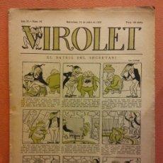 Livros de Banda Desenhada: VIROLET. ANY II NÚM 81. BARCELONA JULIOL 1923. SUPLEMENT IL·LUSTRAT RAT D'EN PATUFET. Lote 199033445