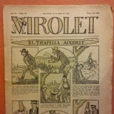 Tebeos: VIROLET. ANY II NÚM 80. BARCELONA JULIOL 1923. SUPLEMENT IL·LUSTRAT RAT D'EN PATUFET. Lote 199033507