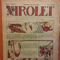 Tebeos: VIROLET. ANY II NÚM 75. BARCELONA JUNY 1923. SUPLEMENT IL·LUSTRAT RAT D'EN PATUFET. Lote 199033752