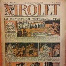 Tebeos: VIROLET. ANY II NÚM 67. BARCELONA ABRIL 1923. SUPLEMENT IL·LUSTRAT RAT D'EN PATUFET. Lote 199034205