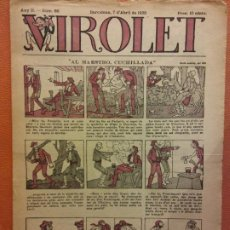 Tebeos: VIROLET. ANY II NÚM 66. BARCELONA ABRIL 1923. SUPLEMENT IL·LUSTRAT RAT D'EN PATUFET. Lote 199034262