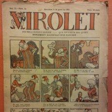 Tebeos: VIROLET. ANY II NÚM 53. BARCELONA GENER 1923. SUPLEMENT IL·LUSTRAT RAT D'EN PATUFET. Lote 199034868