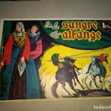 Tebeos: COLECCION CANGURO Nº 1 EN LA SANGRE DEL ALFANGE EDITORIAL MARISAL 1944 ORIGINAL. Lote 199318447