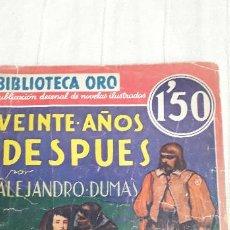 Tebeos: BIBLIOTECA ORO. 20 AÑOS DESPUES. AÑO 1934. Lote 199513343