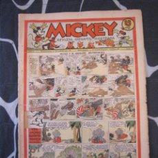 Tebeos: TEBEO INFANTIL - MICKEY Nº 45 - 11 DE ENERO DE 1936 - EDITORIAL MOLINO - WALT DISNEY. Lote 201531808