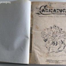 Tebeos: LA CARICATURA. REVISTA DE HUMOR SATÍRICO. SON 74 CUADERNILLOS EN UN VOL.QUE APARECIERON EN 1885. Lote 203609251