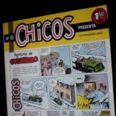 Tebeos: CHICOS (LAS AVENTURAS DE GUILLERMO)Nº 43 ( DE 69) (EDICIONES CID-MADRID-).ORIGINAL DE 1955. Lote 204080025