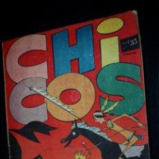 Tebeos: CHICOS Nº 35 ( DE 69) (EDICIONES CID-MADRID-).ORIGINAL DE 1955. Lote 204080288