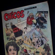 Tebeos: CHICOS Nº 03 ( DE 69) (EDICIONES CID-MADRID-).ORIGINAL DE 1954. Lote 204081726