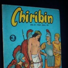 Tebeos: CHIRIBIN Nº 49 [DE 135] (EDICIONES DOMINGO SAVIO).PUBLICADO EL 01-IV-1964. Lote 204083315