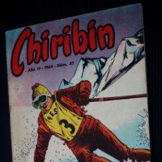Tebeos: CHIRIBIN Nº 47 [DE 135] (EDICIONES DOMINGO SAVIO).PUBLICADO EL 01-III-1964. Lote 204083467