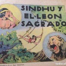 Tebeos: SINDHU Y EL LEÓN SAGRADO - EXCELENTE CONSERVACIÓN. Lote 204496693
