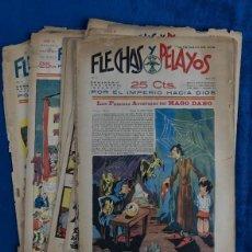 Tebeos: LOTE 12 FLECHAS Y PELAYOS,AÑOS 39,40 Y 41. Lote 205436182