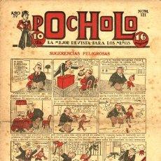 Tebeos: POCHOLO-121 (S. VIVES, 1934) CON GUERRA EN EL PAÍS DE LOS INSECTOS DE CABRERO ARNAL EN CONTRAPORTADA. Lote 205852786