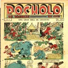 BDs: POCHOLO-217 (S. VIVES, 1935) CON EL PERRO TOP EN CONTRAPORTADA Y DESPLIEGUE DE JAIME TOMÁS. Lote 205856482