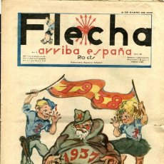 BDs: FLECHA-50 (FALANGE ESPAÑOLA T-J.O.N.S, 1938) GRANDE: 43 X 29 CMS. AÑO NUEVO: 1938. Lote 206180086