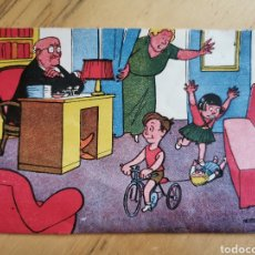 Giornalini: POSTAL ORIGINAL DE ÉPOCA DE PERSONAJES DE LA REVISTA PASEO INFANTIL. Lote 207082478