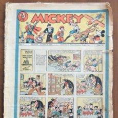 Tebeos: MICKEY REVISTA SEMANAL ILUSTRADA Nº 60 - 25 DE ABRIL DE 1936 - WALT DISNEY. Lote 207117601