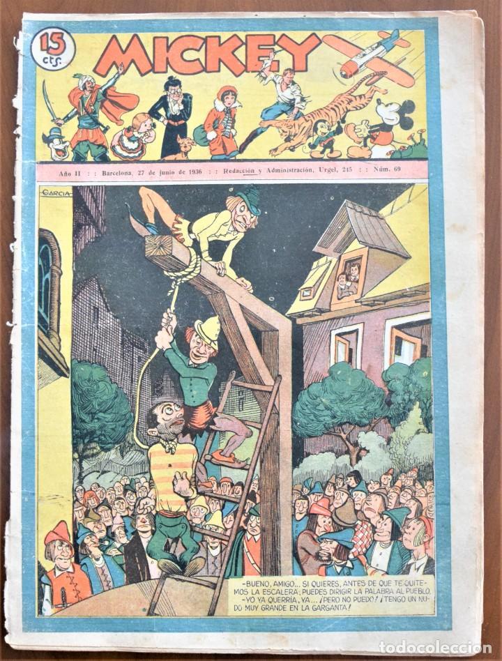 MICKEY REVISTA SEMANAL ILUSTRADA Nº 68 - 27 DE JUNIO DE 1936 - WALT DISNEY (Tebeos y Comics - Tebeos Clásicos (Hasta 1.939))