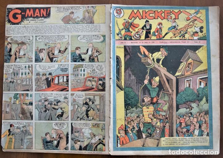 Tebeos: MICKEY REVISTA SEMANAL ILUSTRADA Nº 68 - 27 DE JUNIO DE 1936 - WALT DISNEY - Foto 2 - 207118392