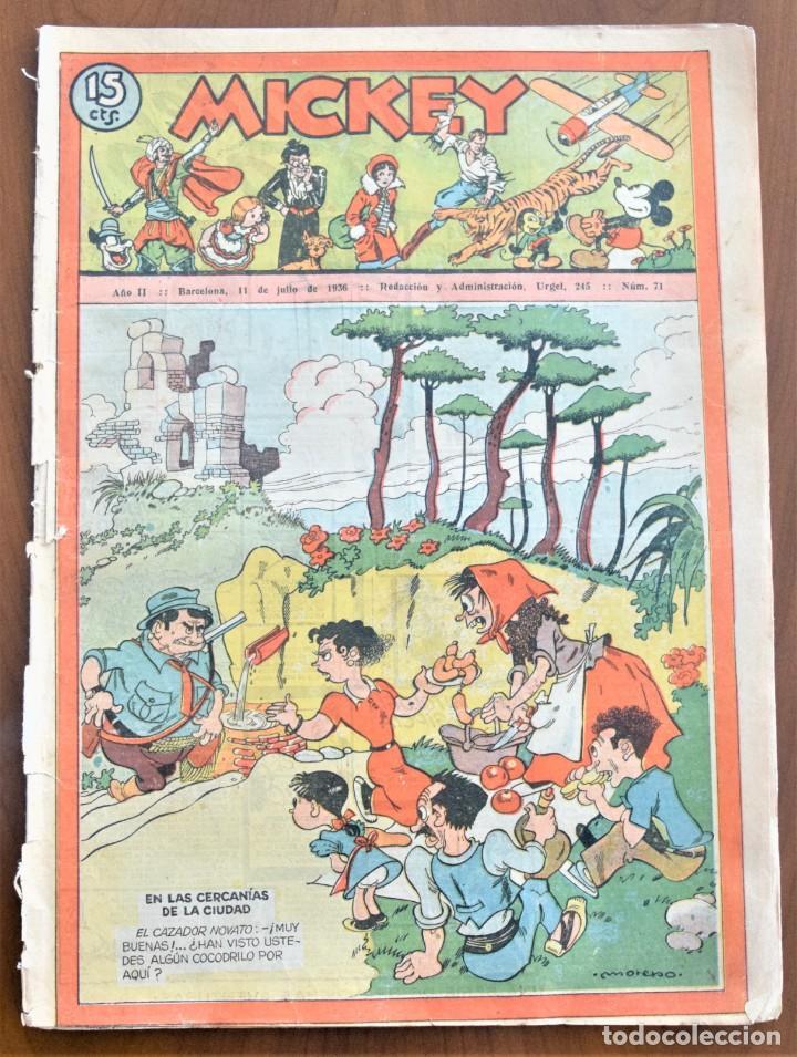 MICKEY REVISTA SEMANAL ILUSTRADA Nº 71 - 11 DE JULIO DE 1936 - SEMANA PREVIA GUERRA CIVIL (Tebeos y Comics - Tebeos Clásicos (Hasta 1.939))