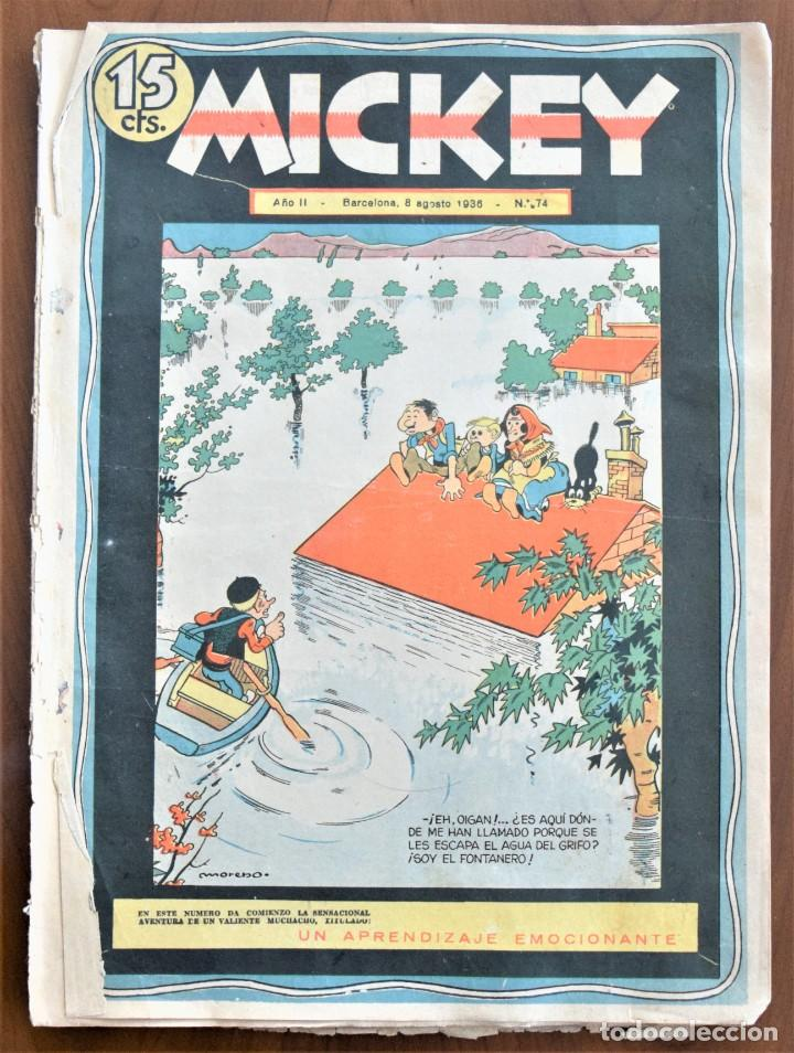 MICKEY REVISTA SEMANAL ILUSTRADA Nº 74 (ÚLTIMO NÚMERO) - 8 DE AGOSTO DE 1936 - GUERRA CIVIL (Tebeos y Comics - Tebeos Clásicos (Hasta 1.939))