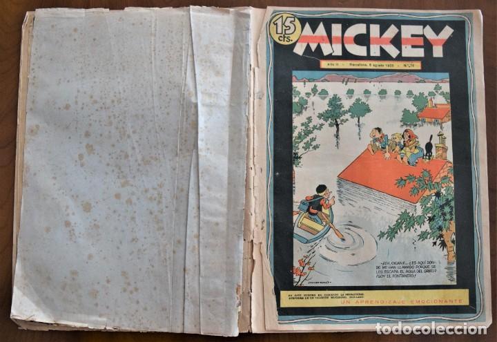 Tebeos: MICKEY REVISTA SEMANAL ILUSTRADA Nº 74 (ÚLTIMO NÚMERO) - 8 DE AGOSTO DE 1936 - GUERRA CIVIL - Foto 2 - 207120587