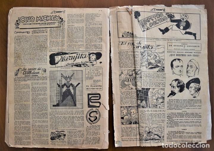 Tebeos: MICKEY REVISTA SEMANAL ILUSTRADA Nº 74 (ÚLTIMO NÚMERO) - 8 DE AGOSTO DE 1936 - GUERRA CIVIL - Foto 7 - 207120587