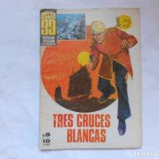 Tebeos: DELTA 99 5 IBERO MUNDIAL DE EDICIONES 1968 TRES CRUCES BLANCAS - NOVELA GRAFICA. Lote 207169160