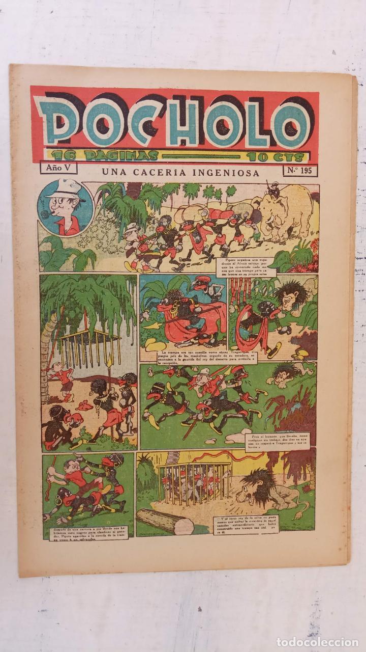 POCHOLO Nº 195 - 24 JULIO 1935 , MUY NUEVO (Tebeos y Comics - Tebeos Otras Editoriales Clásicas)